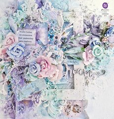 Watercolor Floral Collection Layout by Sharon Ziv