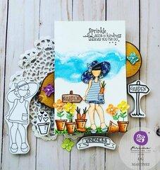 Julie Nutting Meg Doll Card by DG Martinez