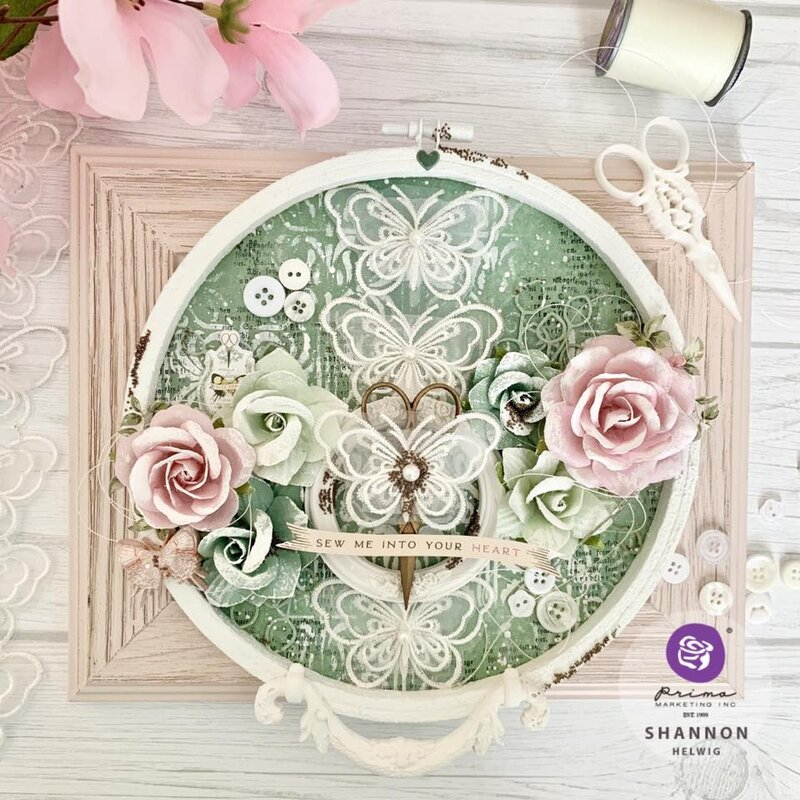 My Sweet Collection Altered Hoop by Shannon Helwig