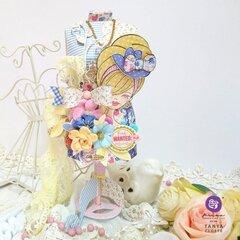 Julie Nutting Frayed Denim Collection + Miss Bea Dressmaker's Mannequin by Tanya Cloete