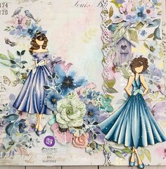 Watercolor Floral Collection Layout by DG Martinez