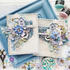 Watercolor Floral Collection Cards by Nadya Drozdova