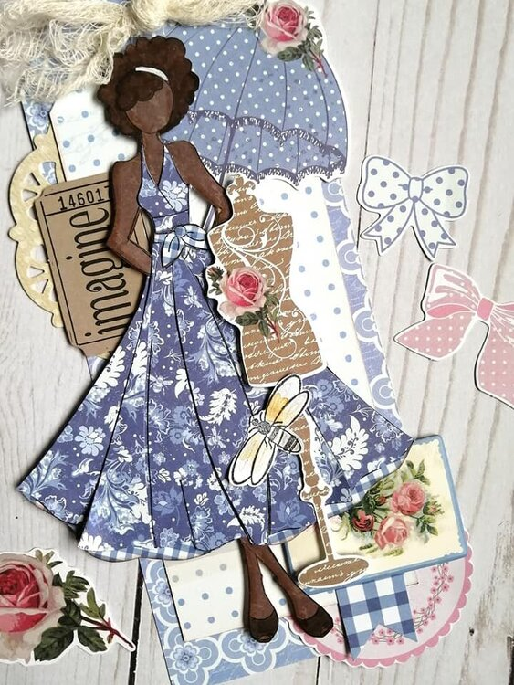 Julie Nutting Frayed Denim Collection + Aisha Doll Tags by Julie Nutting