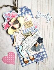 Julie Nutting Frayed Denim Collection + Meg Doll Tag by Julie Nutting