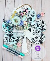 Watercolor Floral Collection + Julie Nutting Meg Clover by DG Martinez