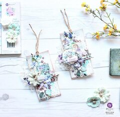 Watercolor Floral Collection Tags by Mallika Kejriwal