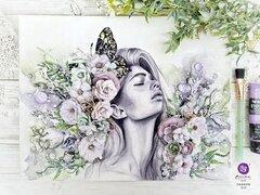 Mixed Media Canvas by Sharon Ziv