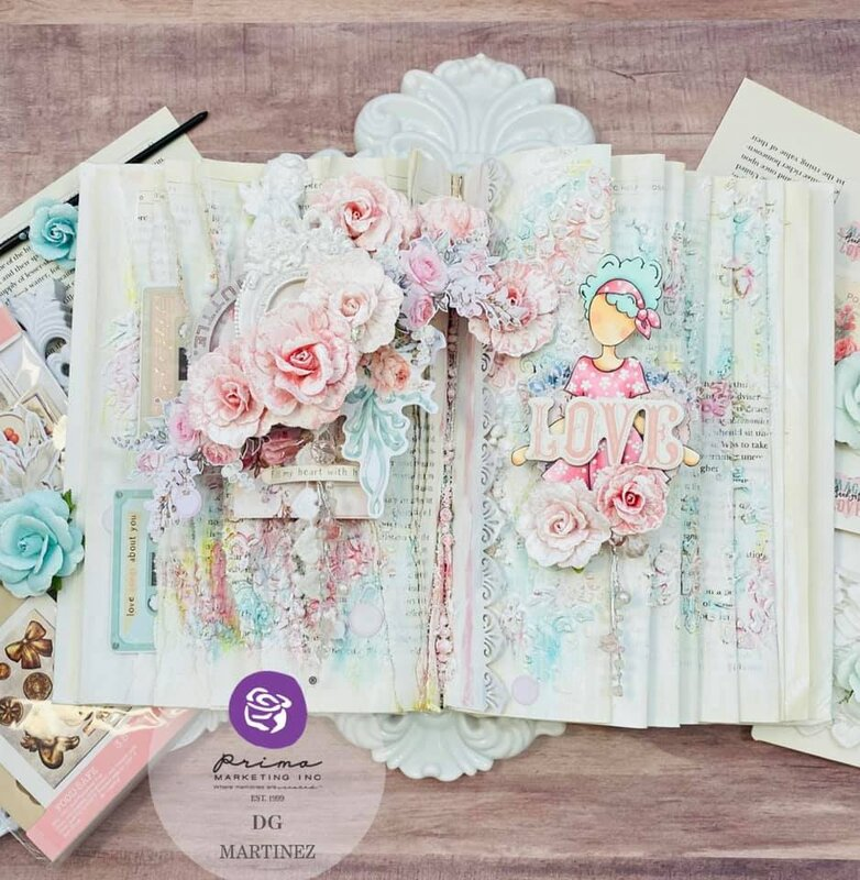 Pastel Altered Book by DG Martinez