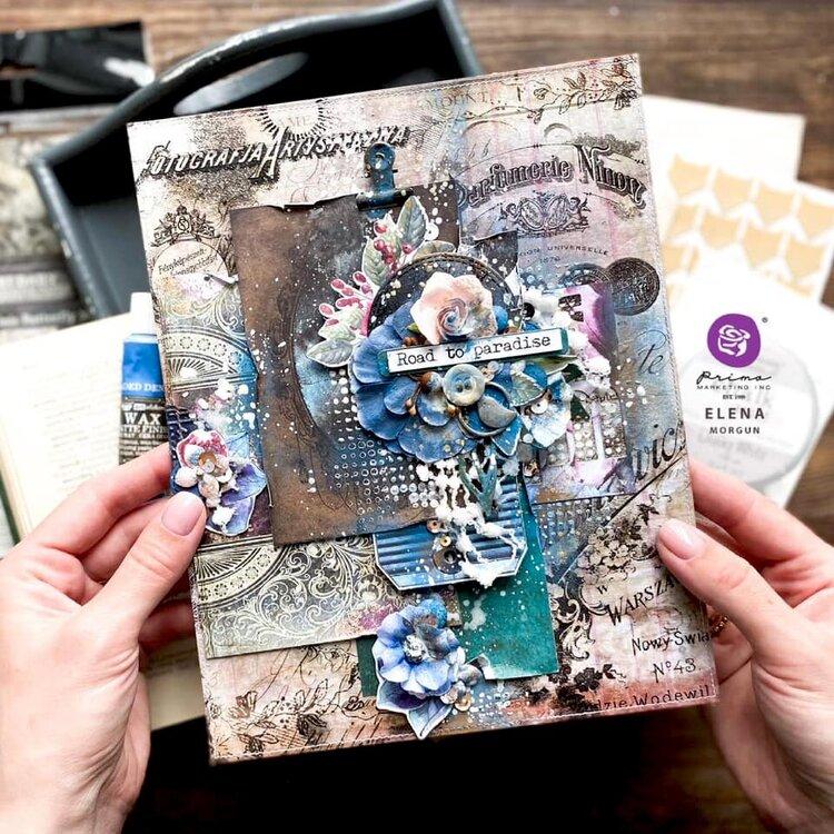 Mixed Media Album Cover by Elena Morgun
