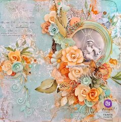 Watercolor Floral Collection Layout by Tanya Cloete