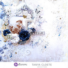 Georgia Blues Layout by Tanya
