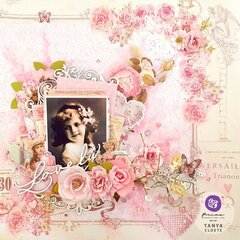With Love Collection Layout by Tanya Cloete