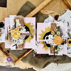 Sunflower Cards by Ksenia Vesnina