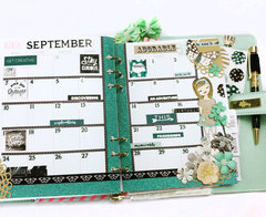 Michelle's Monthly Planner Layout with Zella Teal