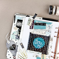 Zella Teal Planner Page Layout