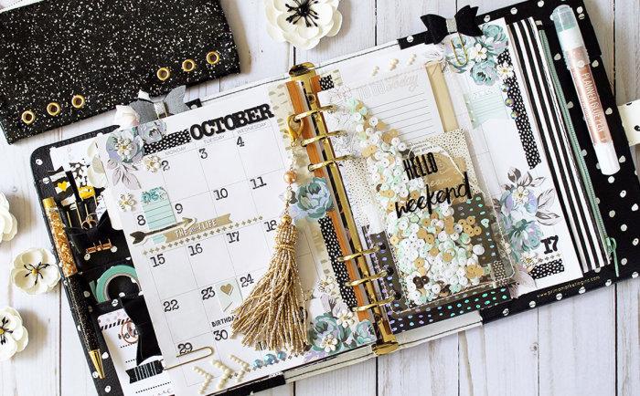 Zella Teal Monthly Planner