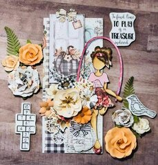 Julie Nutting Doll Katrina + Pumpkin and Spice Collection Card by DG Martinez