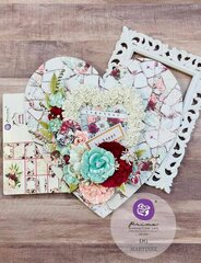 Pretty Mosaic Collection Heart by DG Martinez