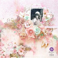 Decorative Chipboard + Sugar Cookie Christmas Collection Layout by Tanya Cloete