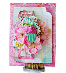 Cupcake Birthday Card by Delaina for Prima
