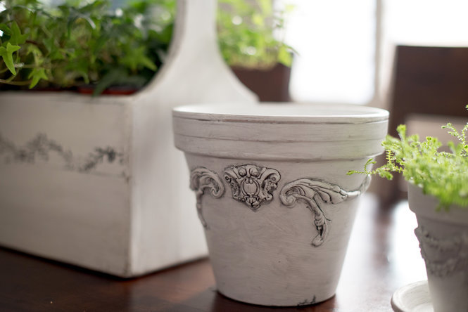 DIY French Planter Pot