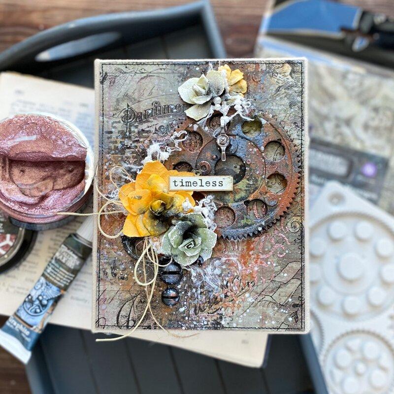 Finnabair Winter 2021 Mixed Media Album Cover by Elena Morgun