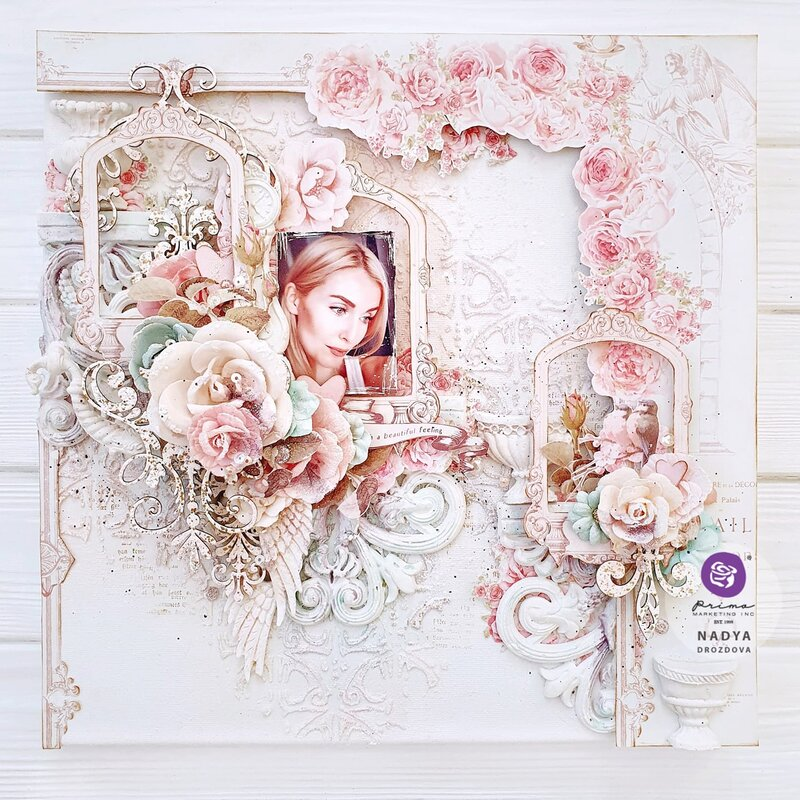 With Love Collection Layout by Nadya Drozdova