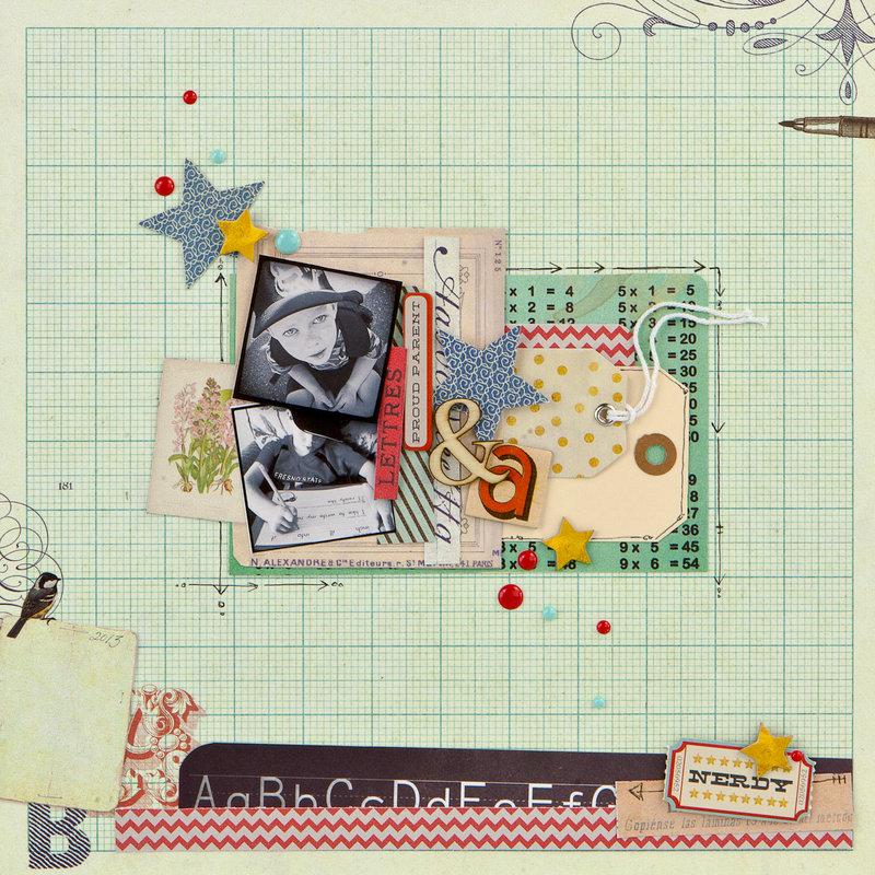 School Memories layout by Jamie for Prima