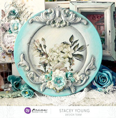 [re]design altered plate charger by Stacey