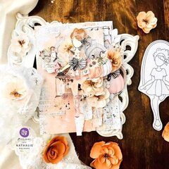 Julie Nutting Katrina Doll + Pumpkin and Spice Collection Canvas by Nathalie Dalibard