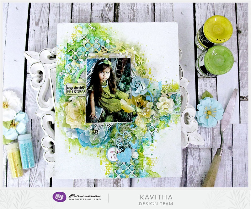Sweet Princess Canvas by Kavitha for Prima