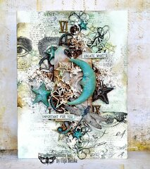 Altered Canvas with Finnabair Moulds by Olga Bielska