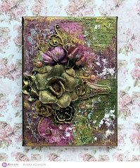 Altered Floral Canvas by Riikka