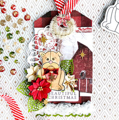 Barley Christmas Tag by Sharon Laakkonen