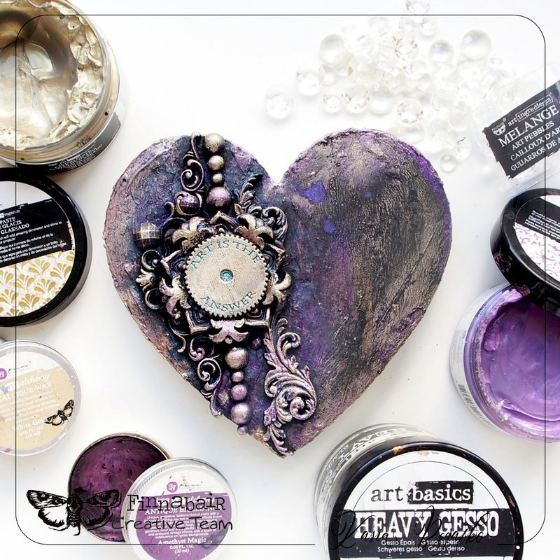 Mixed Media Heart by Kasia for Prima