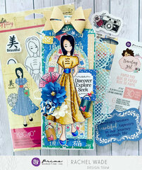 Kyoko tag by Rachel Wade using Julie Nutting Doll Stamps