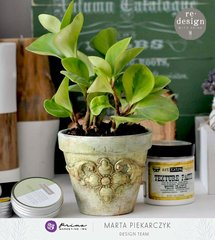 [re]design altered clay pot by Marta