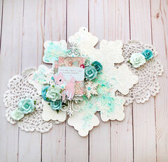 Sugar Cookie Christmas Snowflake by DG Martinez