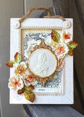 DIY Floral Elegance Plaque
