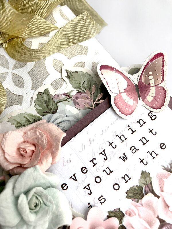 Stick & Style Poetic Rose Tag by Sharon Laakkonen