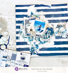 """""""Summer Fun"""" Santorini Layout by Nathalie for Prima"""