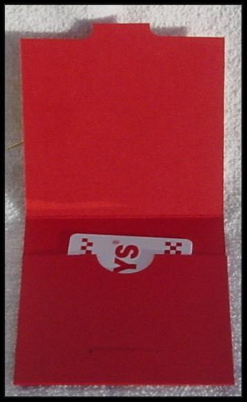 Pocket Card / Gift card holder (open)