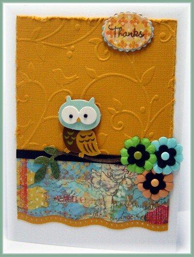 Thanks Owl Card
