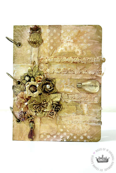 Mixed Media Journal Cover**Swirlydoos October Kit Belle Chanson**