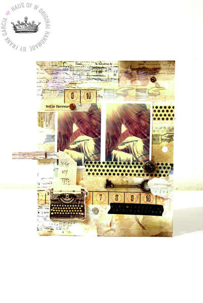 Art Journal Page 1 **Swirlydoos October Kit Belle Chanson**