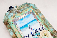 Ocean Mixed Media XL Tag