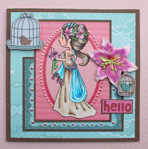 Hello Card *Some Odd Girl*
