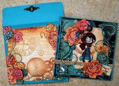 Steampunk Valentine with Matching Envelope