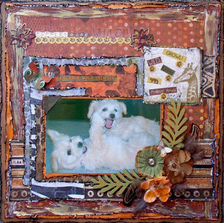 Scraps of Darkness & Sketches: Creatively Yours ~ Puppies Gone Wild