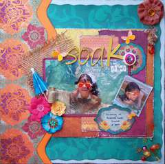 Scraps of Darkness *July Kit* ~ Soak it up